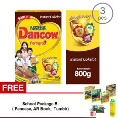 Ulasan Tentang Dancow Fortigro Cokelat 800G 3 Pcs Gratis 1 Sch**l Package B Pencase Ar Book Tumblr
