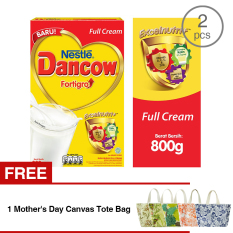 Jual Cepat Dancow Fortigro Full Cream 800Gr 2 Pcs Gratis 1 Mother S Day Canvas Tote Bag