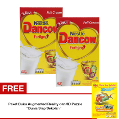 Toko Dancow Fortigro Full Cream 800Gr Bundle Isi 2 Box Free Paket Buku Augmented Reality Dan 3D Puzzle Dunia Siap Sekolah Lengkap Di Indonesia