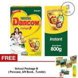 Harga Dancow Fortigro Instant 800Gr 3 Pcs Gratis 1 Sch**l Package B Pencase Ar Book Tumblr Online Indonesia