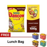 Jual Dancow Fortigro Instant Coklat Pouch 1Kg Buy 1 Get 1 Free Lunch Bag Antik