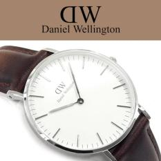 Toko Daniel Wellington Classic 36Mm Bristol Silver Case Jam Tangan Cewek Perempuan Wanita Strap Cokelat Tua Kulit Ring Silver Indonesia