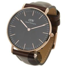 Promo Daniel Wellington Classic Black Bristol 40Mm Rose Gold Case Jam Tangan Pria Laki Laki Cokelat Tua Strap Kulit Ring Rose Gold Di Indonesia