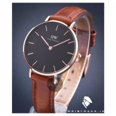 Review Daniel Wellington Classic Black Petite St Mawes 32Mm Rose Gold Case Jam Tangan Wanita Perempuan Cewek Ring Rose Gold Kulit Strap Cokelat Tua Indonesia
