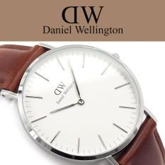 Spesifikasi Daniel Wellington Classic St Mawes 40Mm Silver Jam Tangan Pria Laki Laki Cokelat Muda Silver Ring Lengkap