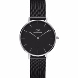 Promo Daniel Wellington Dw00100246 Jam Tangan Wanita 28Mm Classic Petite Ashfield Women Stainless Steel Watch Silver Black Daniel Wellington Terbaru