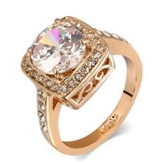 Dazzling Berlian Cincin 18 K Platinum Disepuh Pernikahan Hadiah Perhiasan untuk Wanita-Internasional