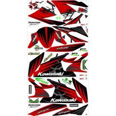 Decal Sticker Ninja Karbu 250 cc kawasaki merah
