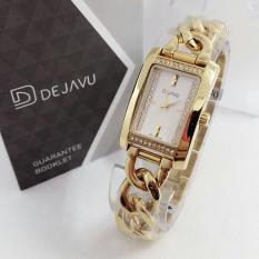 Harga Dejavu Dj5002 Original Watch Jam Tangan Wanita Ceramic Strap Waterresist Asli Dejavu