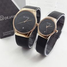 Diskon Dejavu Dj5014 Original Watch Jam Tangan Pasir Couple Stainlees Steel Rose Gold Dejavu