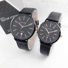Dejavu DJ5017 Original Watch - Jam Tangan Couple - Leather Strap - Date Aktif