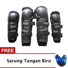 Diskon Besardekker Fox Lutut Touring Dan Trail Racing Original Hitam Gratis Wolfen Sarung Tangan Wolfen Full Biru