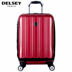 Diskon Delsey Helium Aero Tas Koper Travel 55Cm 4Wheels Kabin Hard Case Dengan Kompartment Depan Trolley Merah Free Shipping Seluruh Area Jawa