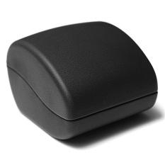 Deluxe Hitam Kulit PU LED Menyala Lamaran Pertunangan Cincin Kotak Perhiasan Kotak Hadiah Baru-Internasional