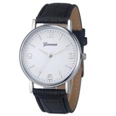 Deluxe Geneva Bisnis Crocodile Leather Analog QUARTZ Unisex Wrist Watch BK
