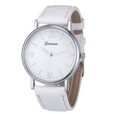 Deluxe Geneva Business Crocodile Leather Analog Quartz Unisex Wrist Watch WH - intl
