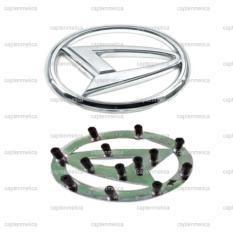Dengan Kaki - Aksesoris Mobil Daihatsu Emblem Logo Stir Mobil Metal Sticker Stiker Setir Daihatsu Xenia Gran Max Sigra Ayla Terios Luxio Sirion Hi-Max Asesoris Mobil Acesoris Mobil