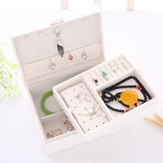 Toko Ada Kunci Lapisan Ganda Bahan Kayu Asesoris Penyimpanan Kotak Kotak Perhiasan Oem Di Tiongkok