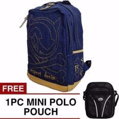 Beli Denim Skull Backpack Free Mini Pouch Selempang Murah