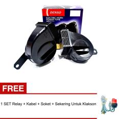 Denso Tipe:272000 Klakson Keong 12V Waterproof/Anti Air + Gratis Relay SET Kabel Lengkap
