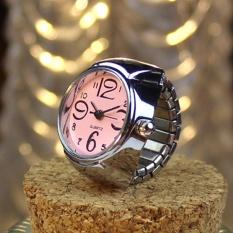 Dial Quartz Analog Watch Creative Steel Cool Elastic Quartz Finger Ring Watch PK