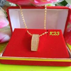 Diamond Pendant Necklace Fashion Jewelry Gold Plated K23 By Joyshopaksesoris.