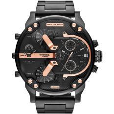 Diesel-Big Daddy Jam tangan Pria - Stainless Steel Anti Karat - Empat Waktu - Water Resistant