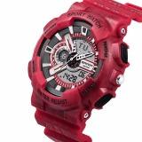 Beli Digital Sport Watch Alarm Stopwatch Tanggal Rubber Band Jam Tangan Merah Online Terpercaya