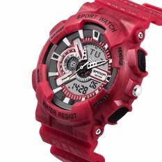 Jual Digital Sport Watch Alarm Stopwatch Tanggal Rubber Band Jam Tangan Merah Oem Original