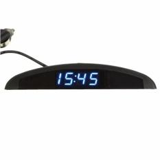 Digital Elektronik LED Jam + Thermometer + Voltmeter 3 In 1 untuk Review Mobil Otomatis-Internasional