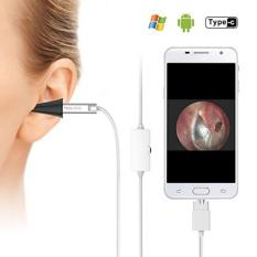 Digital Otoscope, Teslong USB Ear Scope Otology Inspection Camera with 6 LED Lights for Samsung LG Sony Android Mac and PC(Sliver) - intl