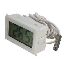 Pemeriksaan Digital Termometer Yang Dimasukkan Lemari Es Freezer Mesin Penetas Buatan Rumah Tangki Putih