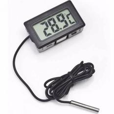 Digital Thermometer with Probe for Aquarium Length 1m Termometer Alat Pengukur Suhu Air Akuarium Sensor Kabel Temperatur -50 Sampai 100 Derajat Celcius Tahan Lama Mudah Dibaca LCD Display Tepat Akurat Kesehatan Ikan Terjaga Water Temperatur
