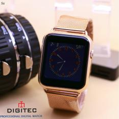 Digitec - Analog LED - Jam tangan Wanita - Design Exclusiev - Stainless Steel - Strap Paris