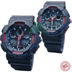 Digitec Couple Edition D39H260DG2011TCHTMM Dualtime Jam Tangan Pasangan Rubber Strap