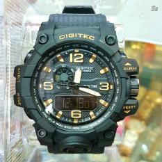 Beli Digitec Dg 2093 Jam Tangan Sporty Profesional Dual Time Rubber Strap Yang Bagus