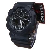 Spesifikasi Digitec Dg2011T Dualtime Jam Tangan Pria Rubber Strap Hitam Merk Digitec