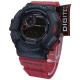 Beli Digitec Dg2028T Digital Jam Tangan Pria Rubber Strap Merah Hitam Cicilan