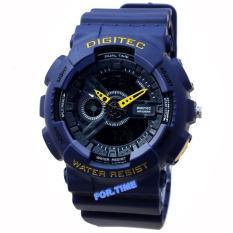 Spesifikasi Digitec Dg2065M Jam Tangan Pria Strap Karet Biru Navy Bagus