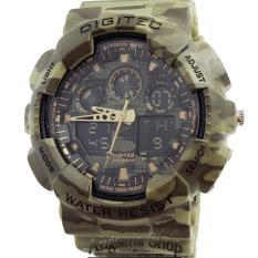 Miliki Segera Digitec Dg2072 Jam Tangan Olahraga Pria Sporty Watch Fashion Army Dual Time Waterresist Rubber