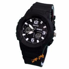 Spesifikasi Digitec Dg2111L Jam Tangan Wanita Dual Time Strap Karet Hitam Putih Lengkap Dengan Harga
