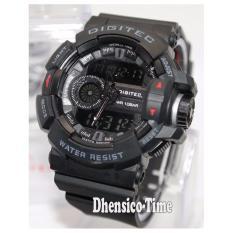 Spesifikasi Digitec Dual Time Dg2080T Jam Tangan Pria Rubber Strap Hitam List Abu Terbaru