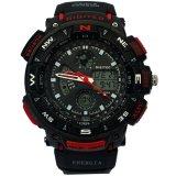 Jual Digitec Dual Time Jam Tangan Pria Hitam Lis Merah Karet Dg3367 M Branded Murah