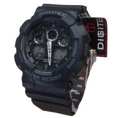 Toko Digitec Dual Time Jam Tangan Sport Pria Rubber Strap Dg 2011 Bw Lengkap Indonesia