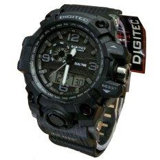 Toko Digitec Dual Time Jam Tangan Sport Pria Rubber Strap Dg 2093 Black Digitec