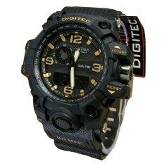 Harga Digitec Dual Time Jam Tangan Sport Pria Rubber Strap Dg 2093 Black Gold Seken