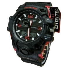 Katalog Digitec Dual Time Jam Tangan Sport Pria Rubber Strap Dg 2093 Black Red Terbaru