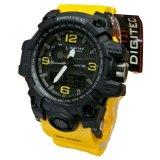 Spek Digitec Dual Time Jam Tangan Sport Pria Rubber Strap Dg 2093 Yellow Digitec