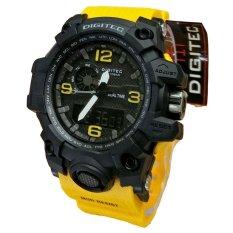 Digitec Dual Time Jam Tangan Sport Pria Rubber Strap Dg 2093 Yellow Digitec Diskon 50