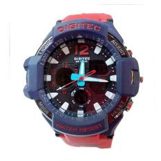 Promo Digitec Dual Time Jam Tangan Sport Pria Rubber Strap Dg 2094 Rb Akhir Tahun